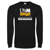 Black Long Sleeve T Shirt-University Mark Stacked