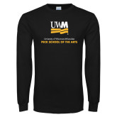 Black Long Sleeve T Shirt-Peck School of Arts