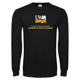 Black Long Sleeve T Shirt-College of Health and Sciences