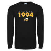 Black Long Sleeve T Shirt-Class Of Personalized Year Stacked, Personalized year