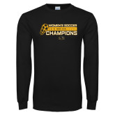 Black Long Sleeve T Shirt-2018 Womens Soccer Champions