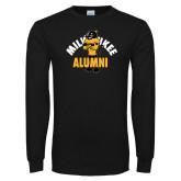 Black Long Sleeve T Shirt-Milwaukee Alumni Full Body