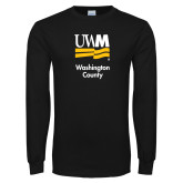 Black Long Sleeve T Shirt-UWN Washington County vertical
