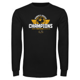 Black Long Sleeve T Shirt-2019 Womens Soccer Champs