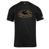 Russell Core Performance Black Tee-Official Logo