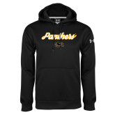 Under Armour Black Performance Sweats Team Hoodie-Panthers Script