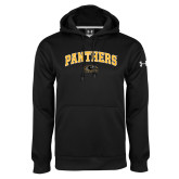 Under Armour Black Performance Sweats Team Hoodie-Arched Panthers