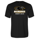 Performance Black Tee-Womens Soccer