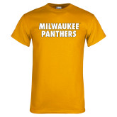 Gold T Shirt-Milwaukee Panthers Word Mark