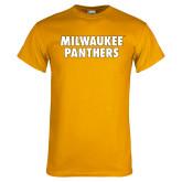 Gold T Shirt-Milwaukee Panthers Word Mark