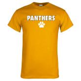 Gold T Shirt-Panthers w/ Paw