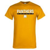Gold T Shirt-Soccer Bar Design