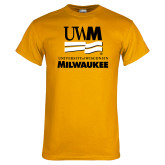 Gold T Shirt-University Mark Stacked