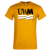 Gold T Shirt-University Banner