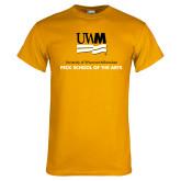 Gold T Shirt-Peck School of Arts
