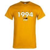Gold T Shirt-Class Of Personalized Year Stacked, Personalized year
