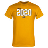 Gold T Shirt-Class Of Personalized Year Jersey