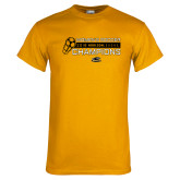 Gold T Shirt-2018 Womens Soccer Champions