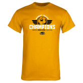 Gold T Shirt-2019 Womens Soccer Champs