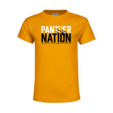 Youth Gold T Shirt-Panther Nation