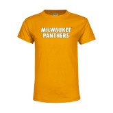 Youth Gold T Shirt-Milwaukee Panthers Word Mark