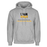 Grey Fleece Hoodie-Peck School of Arts