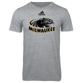 Adidas Sport Grey Logo T Shirt-Official Logo