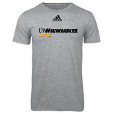 Adidas Sport Grey Logo T Shirt-UW Milwaukee