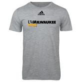 Adidas Sport Grey Logo T Shirt-UW Milwaukee