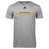 Adidas Climalite Sport Grey Ultimate Performance Tee-Milwaukee Stacked