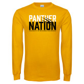 Gold Long Sleeve T Shirt-Panther Nation