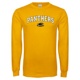 Gold Long Sleeve T Shirt-Arched Panthers