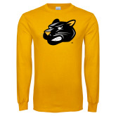 Gold Long Sleeve T Shirt-Pounce Head