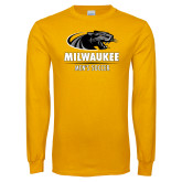 Gold Long Sleeve T Shirt-Mens Soccer