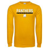 Gold Long Sleeve T Shirt-Baseball Bar Design