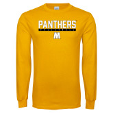 Gold Long Sleeve T Shirt-Volleyball Bar Design
