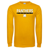 Gold Long Sleeve T Shirt-Soccer Bar Design