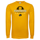 Gold Long Sleeve T Shirt-Soccer Ball Design