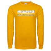 Gold Long Sleeve T Shirt-Womens Basketball