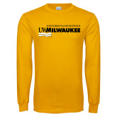 Gold Long Sleeve T Shirt-Primary University Mark