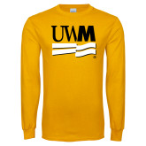 Gold Long Sleeve T Shirt-University Banner