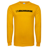 Gold Long Sleeve T Shirt-Arched UW Milwaukee
