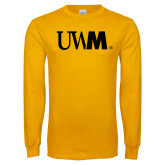Gold Long Sleeve T Shirt-UWM