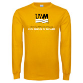 Gold Long Sleeve T Shirt-Peck School of Arts