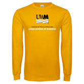 Gold Long Sleeve T Shirt-Lubar School