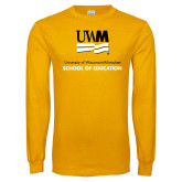 Gold Long Sleeve T Shirt-School of Education