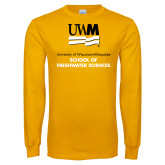 Gold Long Sleeve T Shirt-FreshWater Sciences