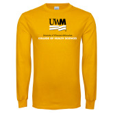 Gold Long Sleeve T Shirt-College of Health and Sciences