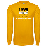 Gold Long Sleeve T Shirt-College of Nursing
