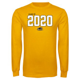 Gold Long Sleeve T Shirt-Class Of Personalized Year Jersey